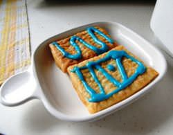 Toaster Strudel with icing