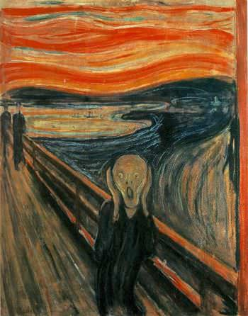 The Scream by Edvard Munch can be horrific for some people (especially children) but is certainly not a horrible painting.