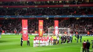 2007-08 Champions League match between Arsenal FC and Liverpool FC in London. Result was 1-1