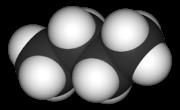 Butane molecule - 3-dimensional rendering