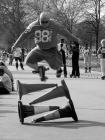 Stunts with Roller Skates