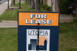 A For-Lease sign for a property