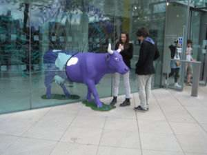 Purple Cow - part of the Underbelly show at South Bank in England