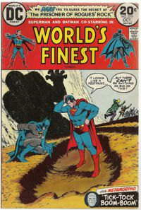 Batman and Superman co-starring in World's Finest comics Oct 1973 ed.