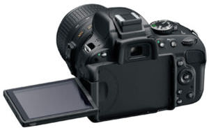 The D5100's flip-out display looks identical to the one found in the D5200.