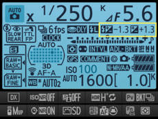D7100 interface.