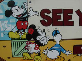 A still from Mickey Mouse, Minnie Mouse and Donald Duck cartoon