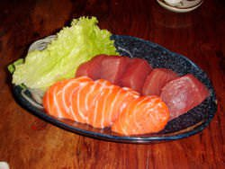 Tuna (top) and Salmon(bottom)