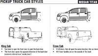 Nissan Titan cab styles