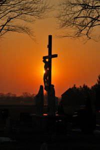 Crucifix in the sunset.