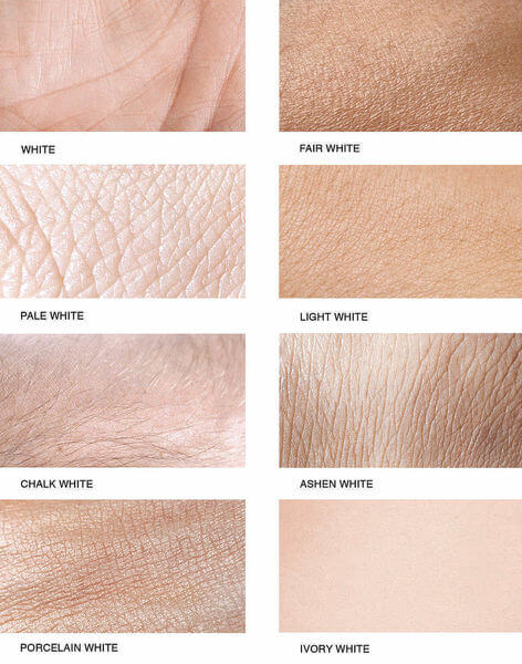 Variants of white skin