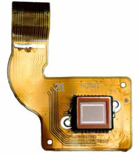 A CCD sensor on a circuit board.