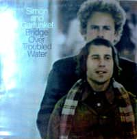Art Garfunkel (top) and Paul Simon (bottom) on the cover of their last album together