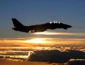 F14 Tomcat on patrol over the Persian Gulf