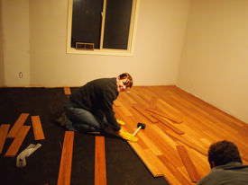 A DIY hardwood floor project