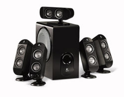 A 5.1 Surround Sound home theater system from Logitech