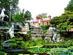 Landscaped garden of the York House, England