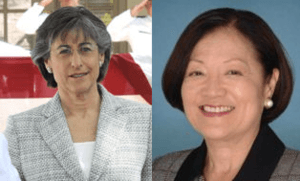 Linda Lingle (Republican) and Mazie Hirono (Democrat), candidates for the 2012 Senate Elections in Hawaii