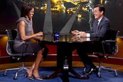 First Lady Michelle Obama on The Colbert Report