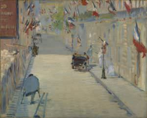 The Rue Mosnier with Flags by Édouard Manet.