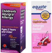 Allegra and Equate Allergy Relief for kids.