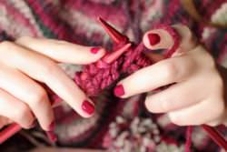 Knitting with needles