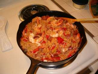 Chicken and seafood jambalaya (click to enlarge)