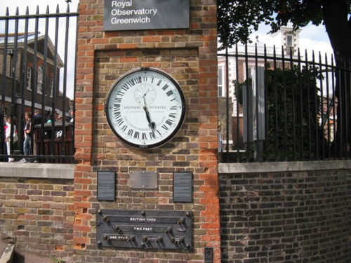 The Shepherd Gate clock at the Royal Observatory in Greenwich.