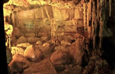 Paleolithic cave art in Lascaux, France