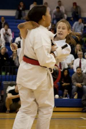 Contestants in a Karate tournament.