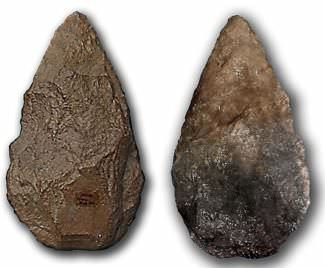 Two Lower Paleolithic bifaces