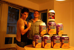 Whey Protein in various brands